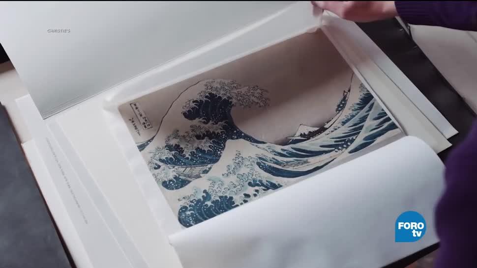 la gran ola, Kanagawa, British Museum, Exhiben