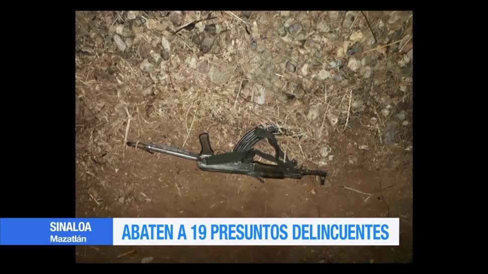 Policías, abaten, presuntos delincuentes, Mazatlán