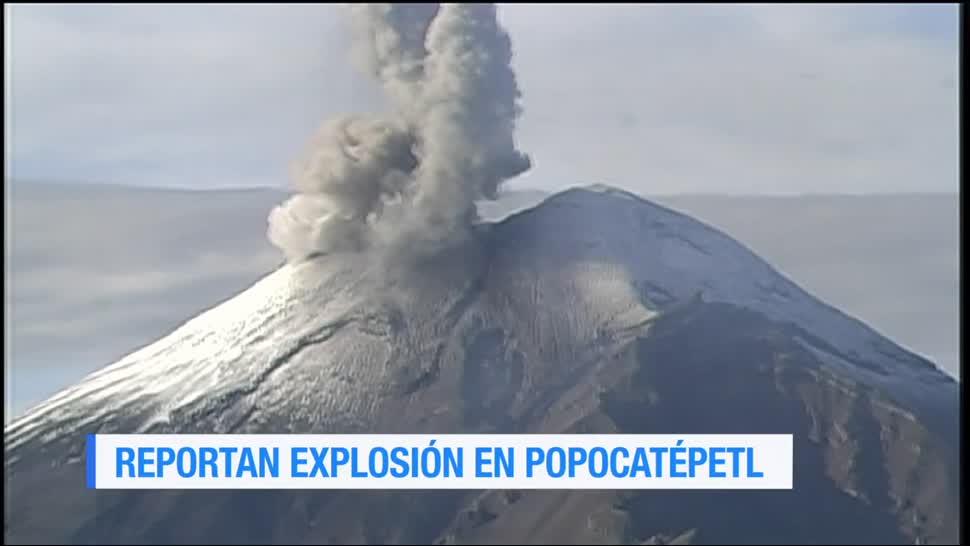 Explosión, Popocatépetl, fumarola, dirección al noroeste, puebla