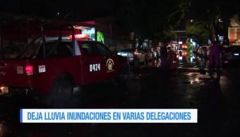 Lluvia, inundaciones, delegaciones, Ciudad de México CDMX