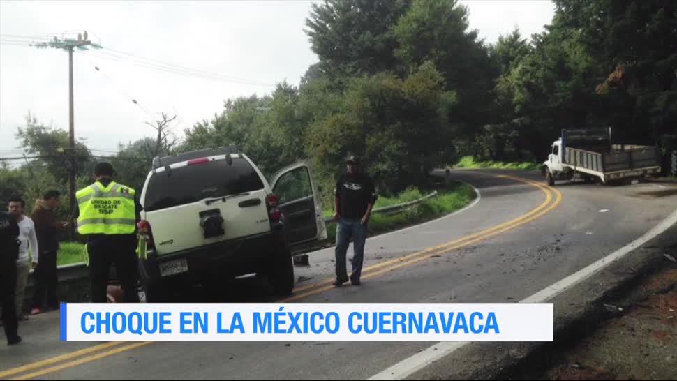 Tres personas, resultaron lesionadas, coque, México-Cuernavaca