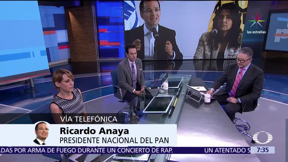 Ricardo Anaya, presidente nacional del PAN, Despierta con Loret, frente amplio opositor