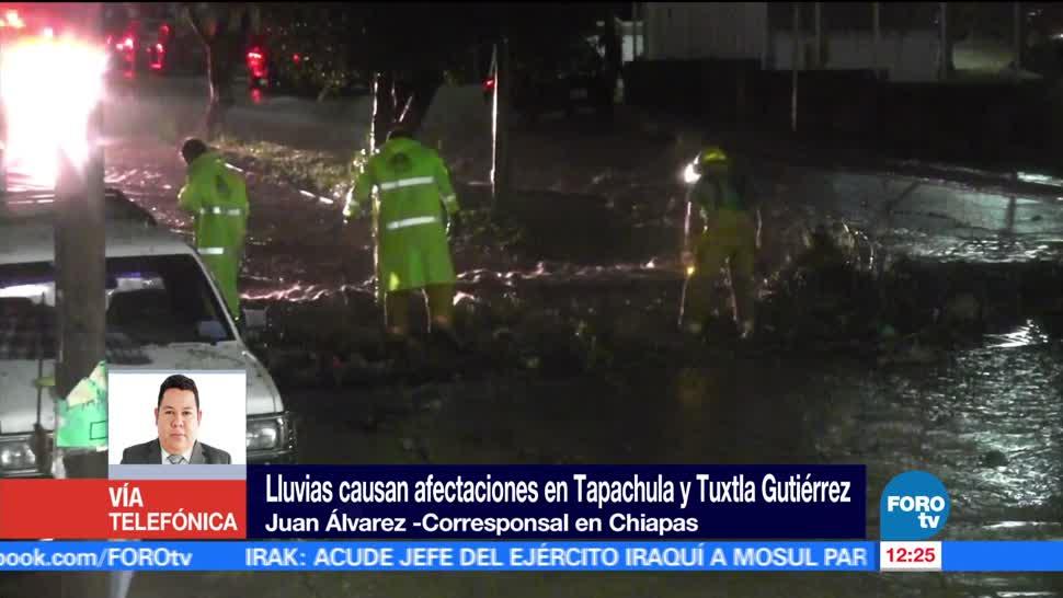 Tapachula, Tuxtla Gutiérrez, Chiapas, lluvias, afectaciones