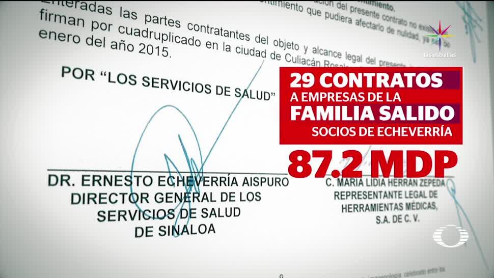 noticias, televisa, Exsecretario de Salud, Sinaloa, otorgó contratos, empresas que fundó