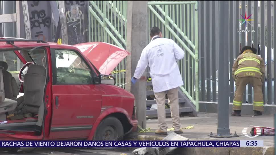 Muere una niña, choque de camionetas, Iztapalapa, CDMX