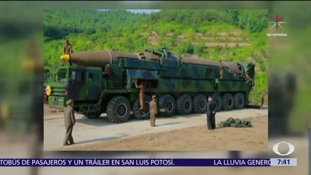 Norcorea, prueba de misil, misil intercontinental, televisión estatal