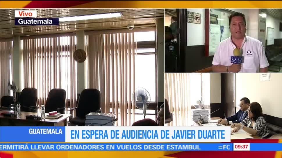 Autoridades, Tribunal de Guatemala, exgobernador de Veracruz, Javier Duarte