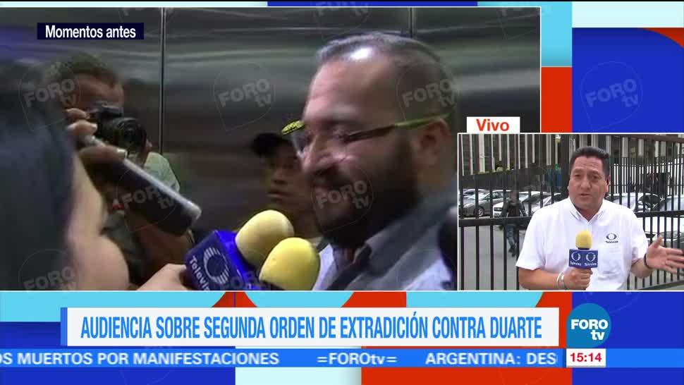 Javier Duarte, llegará a México, plazo de cinco días, ex gobernador de Veracruz