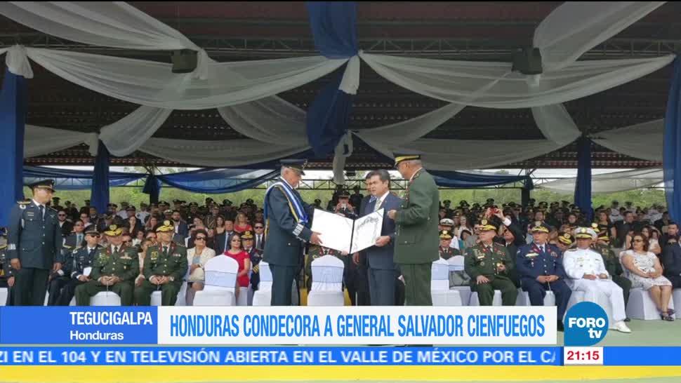noticias, forov, Honduras, condecora, general Salvador Cienfuegos, secretario de la Defensa
