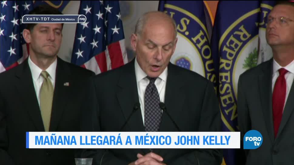 noticias, forotv, John Kelly, visitará, México, secretario de Seguridad Nacional