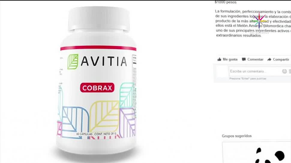 noticias, televisa, pastillas, adelgazar, venden en Facebook, Avitia Cobrax