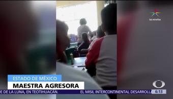 Texcoco, Estado de México, maestra de primaria, alumno, salón de clases