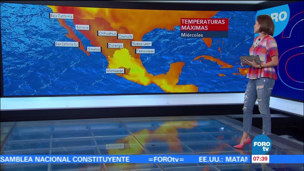 baja presión, lluvias, México, temperatura máxima