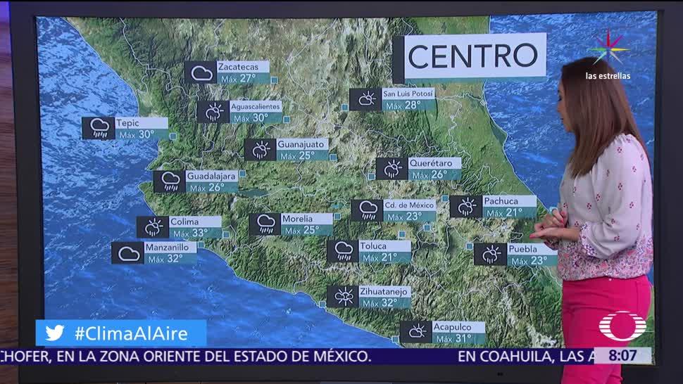 onda tropical, costas de Jalisco, Michoacán, lluvias