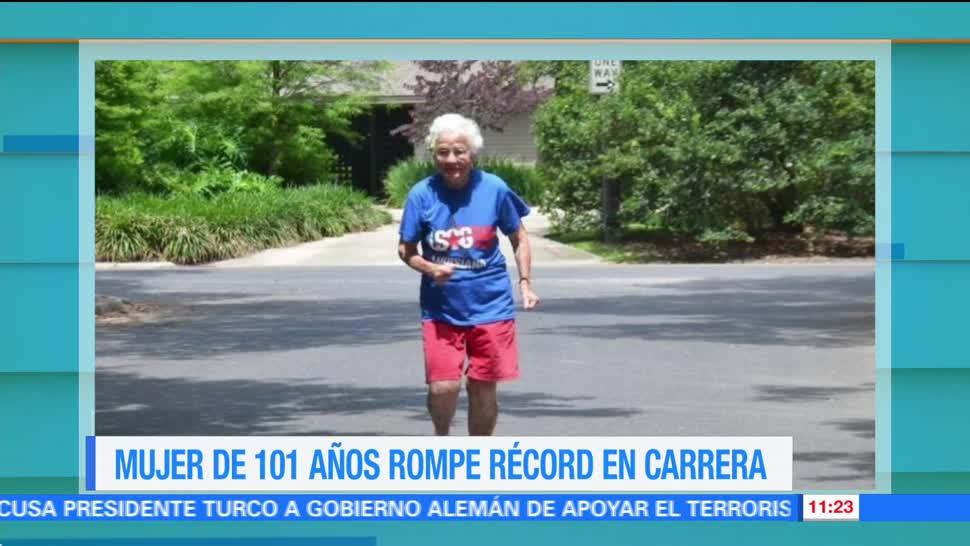 corredora de Luisiana, 101 años de edad, récord femenil, metros