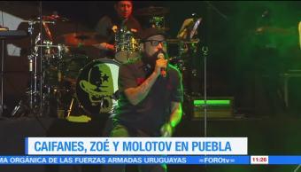 Caifanes, Zoé, Molotov, Panteón Rococó, festival musical, Puebla