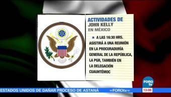 Noticias, forotv, agenda, John Kelly, CDMX, Seguridad Nacional de Estados Unidos