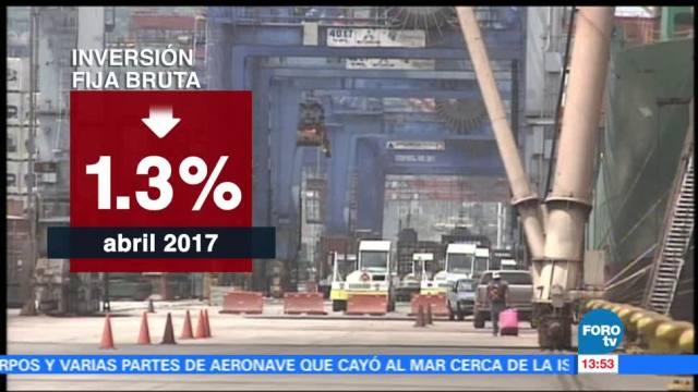 noticias, forotv, INEGI. presenta datos. inversión fija bruta. retrocedió