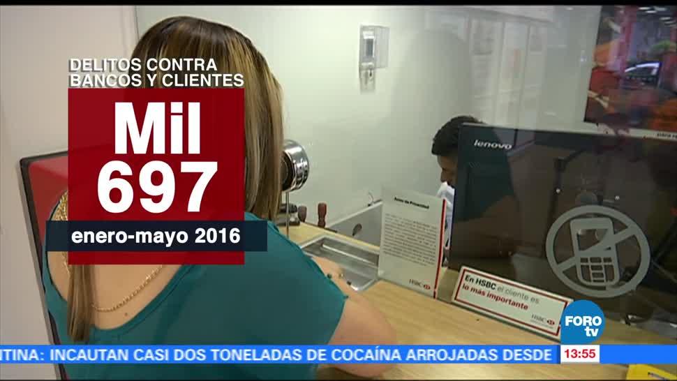 noticias, forotv, Baja, cifra, delitos, contra los bancos