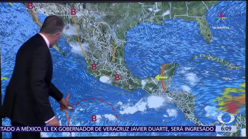 onda tropical, tormentas intensas, regiones de Veracruz, Oaxaca