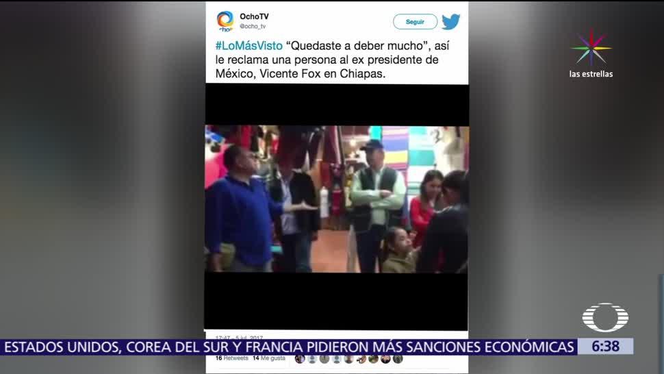 video, redes social, Vicente Fox, escucha críticas, ciudadano en Chiapas