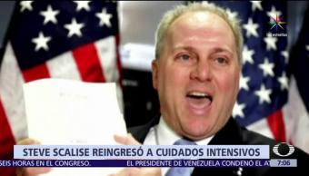 congresista republicano, Steve Scalise, herido, cuidados intensivos