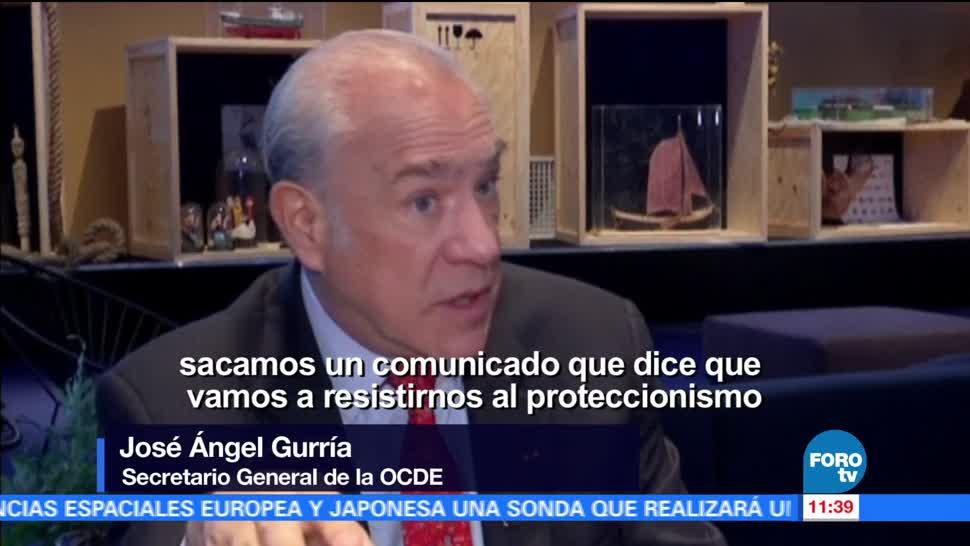 José Ángel Gurría, secretario general, OCDE, líderes de las principales economías, proteccionismo comercial