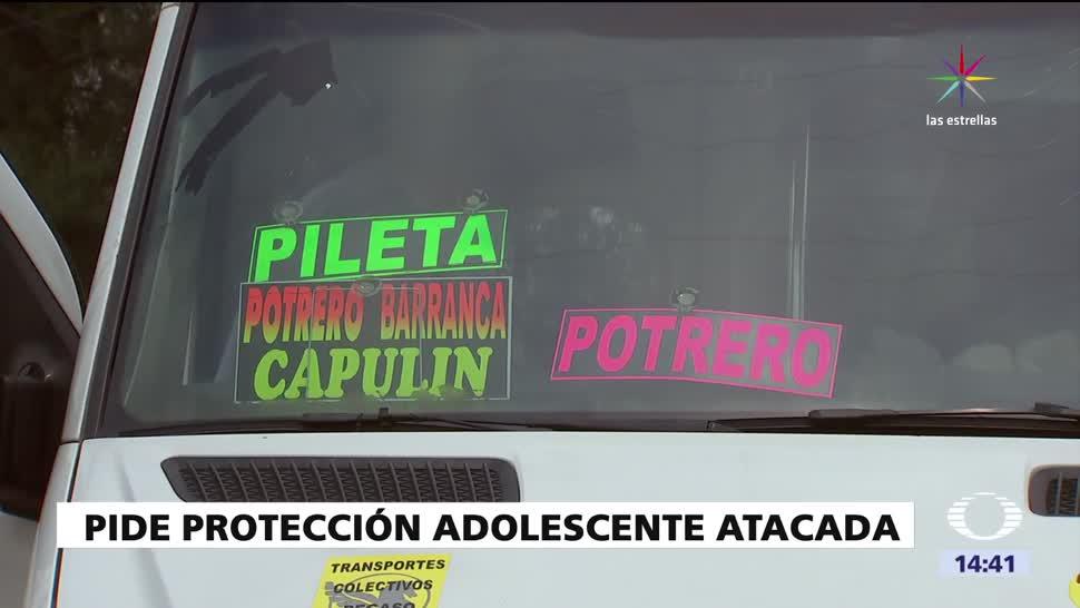 noticias, forotv, Adolescente violada, pide protección, atacada sexualmente, camioneta de transporte