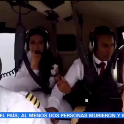 Cae helicóptero que transportaba a una novia en Brasil