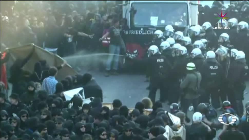 Bienvenidos al infierno, protestan, Hamburgo, Cumbre del G20, manifestacioens, protesta