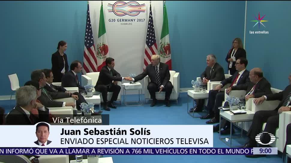 Peña Nieto, estrecha, Trump, reunión en el G20