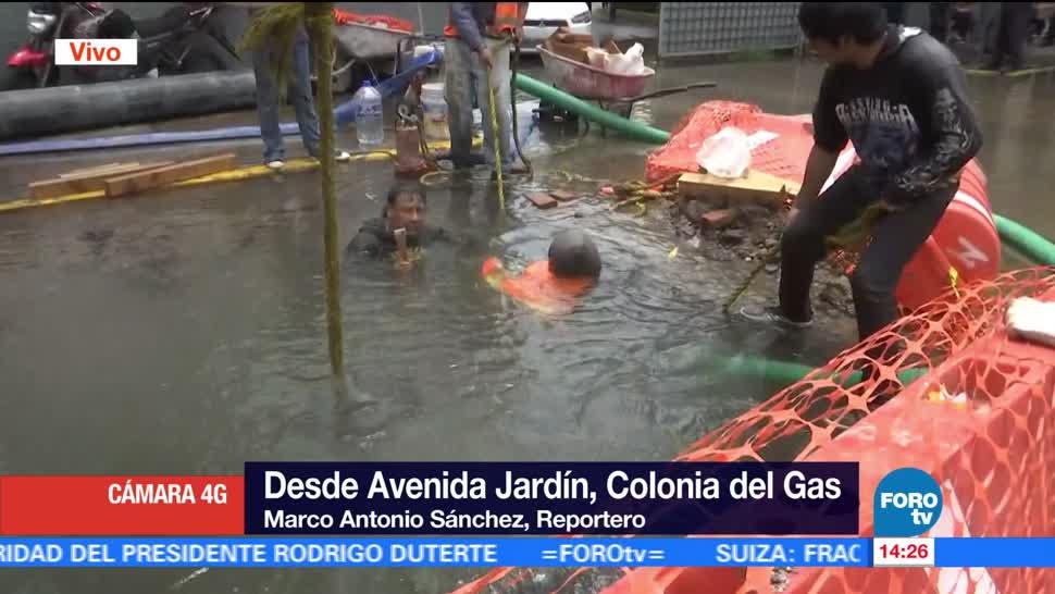 noticias, forotv, registra, fuga de agua, Azcapotzalco, CDMX