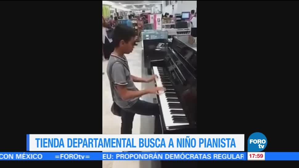noticias, forotv, Niño prodigio, toca el piano, espontáneamente, tienda departamental