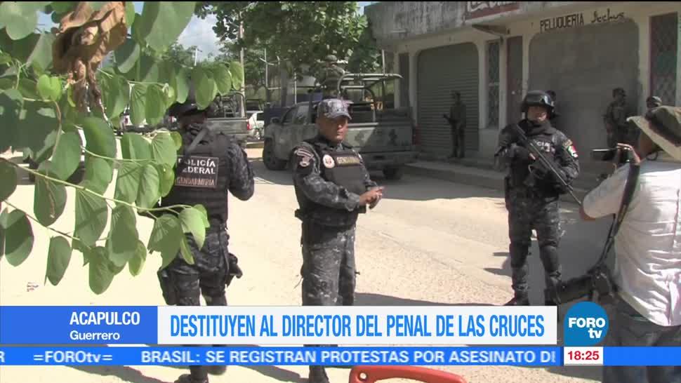 Destituyen, director, penal, Acapulco, Las Cruces, Guerrero