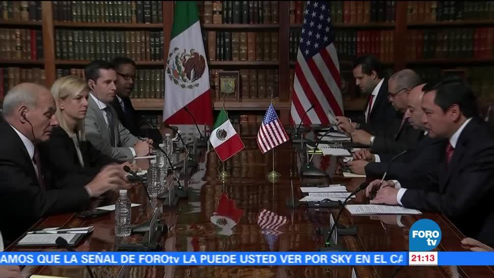 México, Estados Unidos, refrendan, colaboración seguridad, John kelly, Osorio Chong