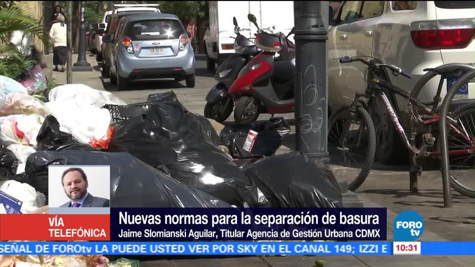 nuevas normas, separar la basura, CDMX, Jaime Slomianski Aguilar