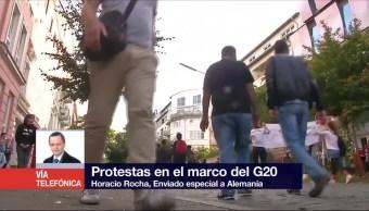 Horacio Rocha, corresponsal de Noticieros Televisa, Protestas, Cumbre del G20