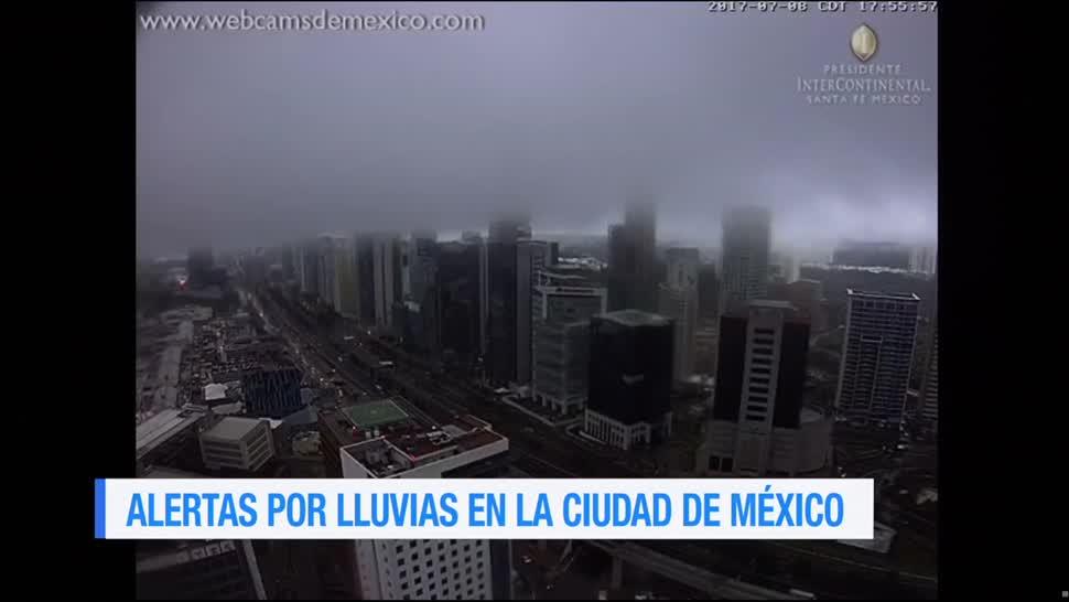Activan, alerta naranja, CDMX, lluvia, delgaciones, ciudad de méxico