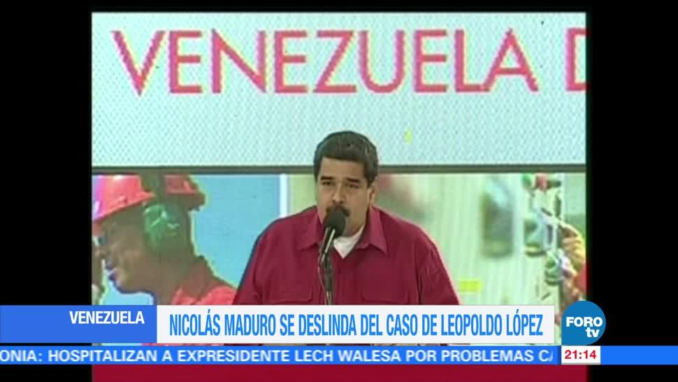 Maduro, se pronuncia, excarcelación, Leopoldo López, presidente, Venezuela