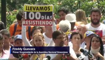 Oposicion Anuncia, Mas Movilizaciones, Venezuela, Freddy Guevara