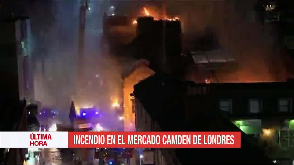 Incendio, mercado Camden, Londres