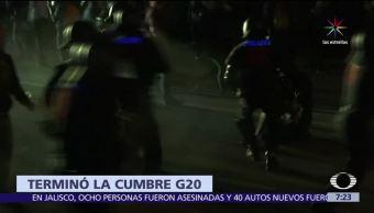 personas detenidas, policías, heridos, cumbre del G20