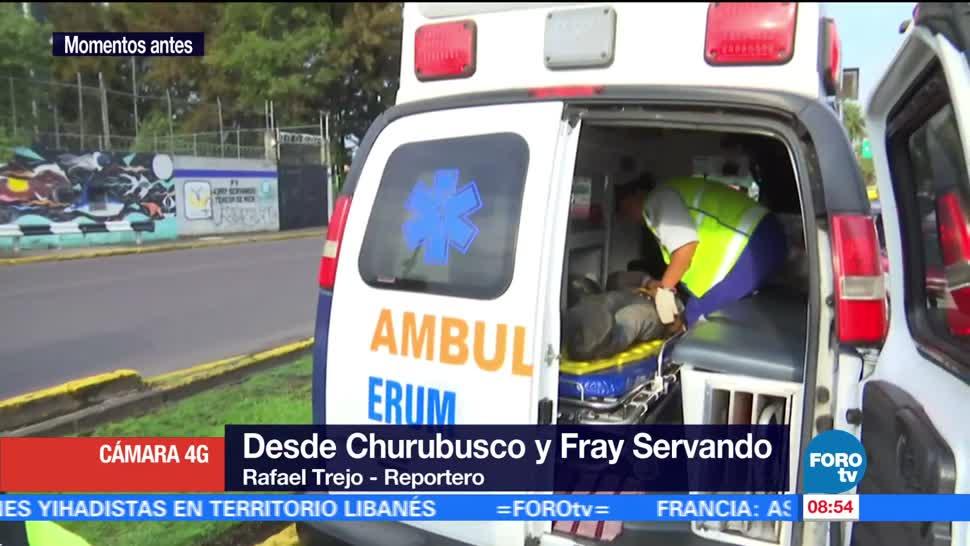 hombre cayó, zanja, Río Churubusco, Fray Servando, hospital por lesiones