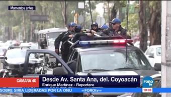 policía herido, asalto, avenida Santa Anna, delegación Coyoacán, CDMX