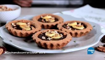 chef, Verónica de la Piedra, receta, mini tartas de chocolate, plátano