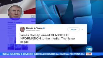 presidente Donald Trump, exdirector del FBI, información clasificada, medios de comunicación