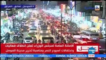 coalición internacional, EU, fuerzas iraquíes, ciudad de Mosul