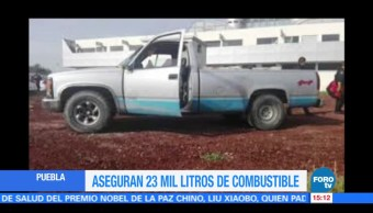 Puebla, Aseguran, Combustible, Robado