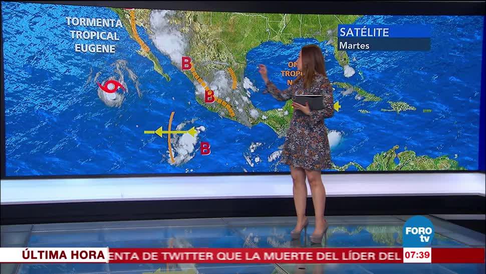 Canal de bajas presiones, lluvias, República mexicana, país