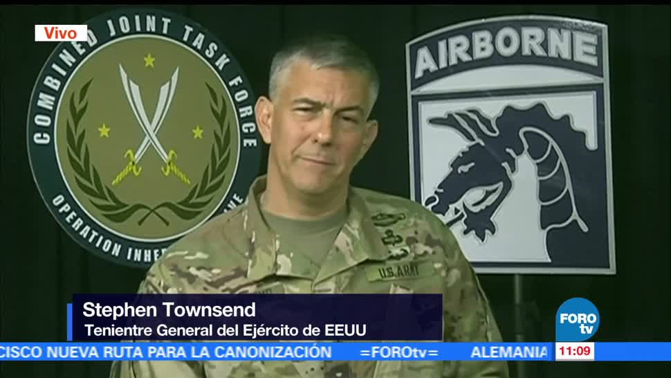 teniente general, Ejército de EU, Stephen Townsend, Mosul, Irak